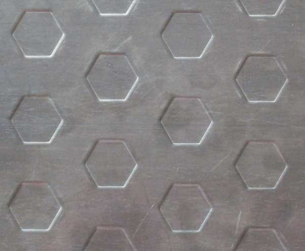 Stamped Stainless Steel Sheet-Hexagon
